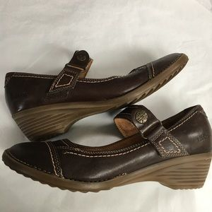 9-9.5 TAOS. Brown leather Mary Janes shoes rugged